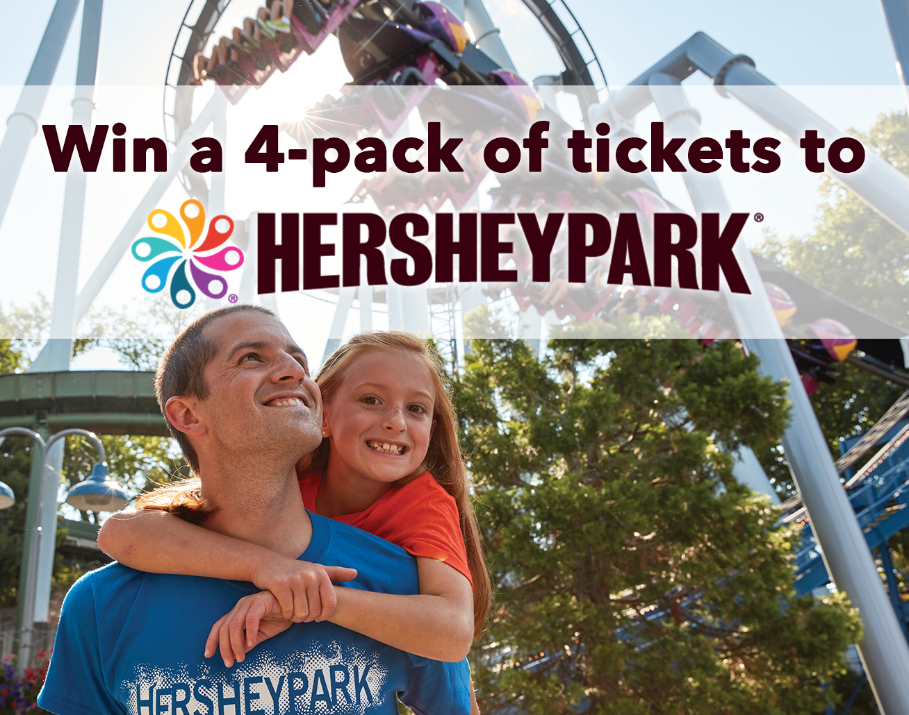 Win a 4-Pack of tickets to Hersheypark!