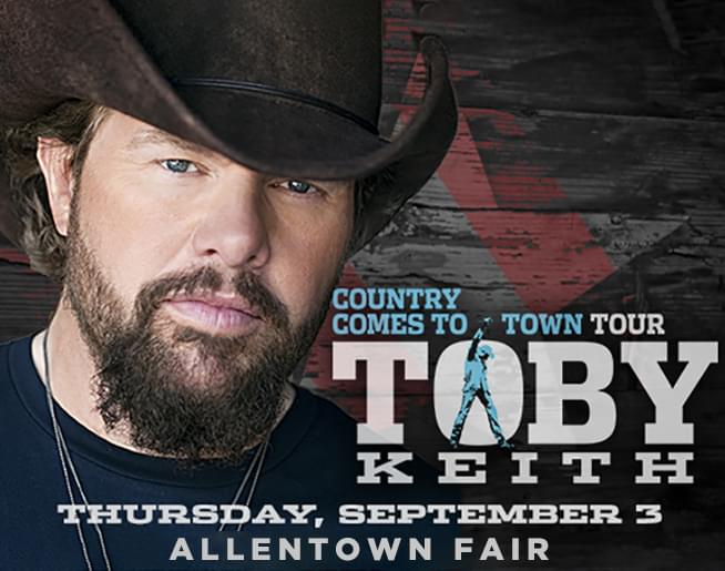 Toby Keith at The Great Allentown Fair – POSTPONED until September 2, 2021
