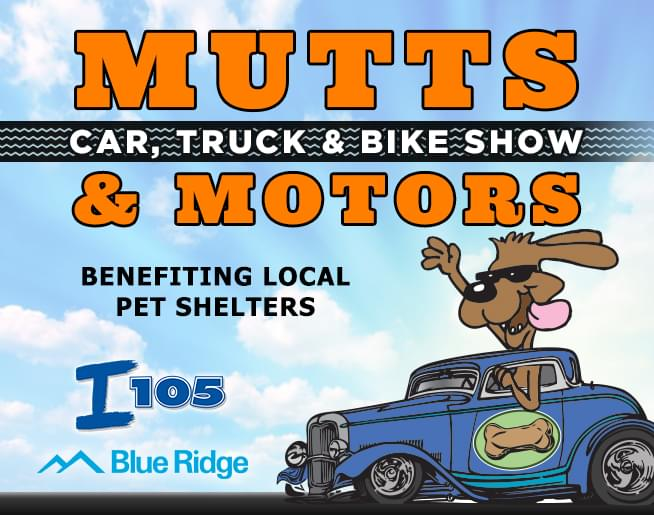 Join us for the Mutts & Motors Car Show on May 2nd