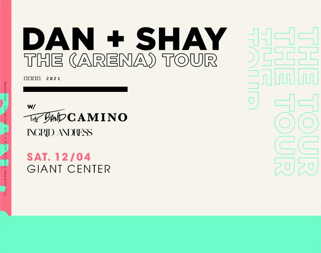 Dan + Shay at the GIANT Center – POSTPONED to December 4, 2021
