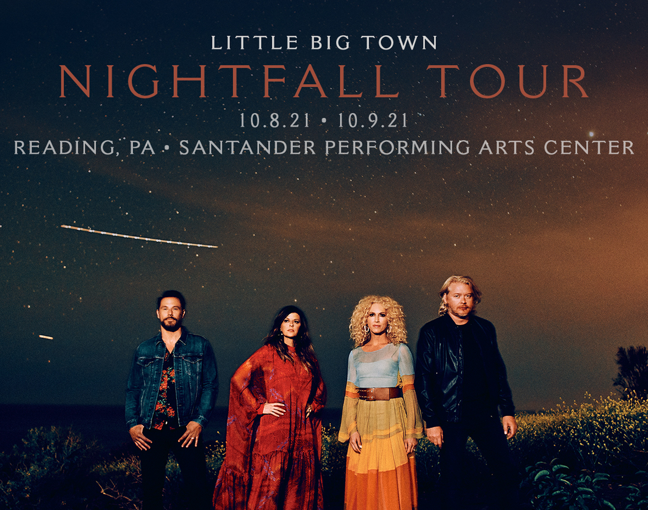 Little Big Town at Santander Performing Arts Center on October 8-9