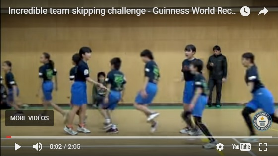 Kids Set A New  Jump Rope World Record