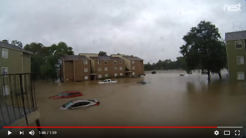 Hurricane Harvey Flooding Timelapse