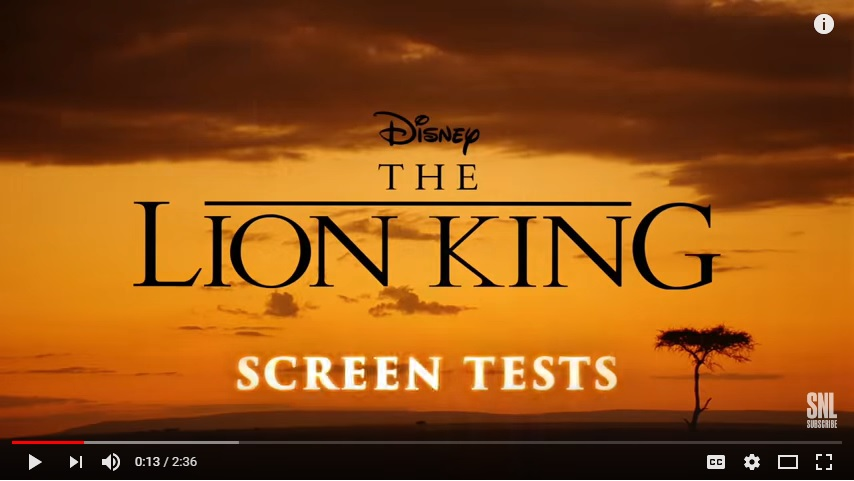 SNL Lion King Auditions