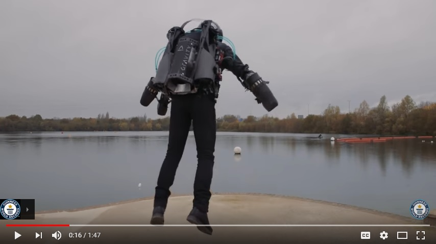 Real Life Iron Man Sets Speed Record