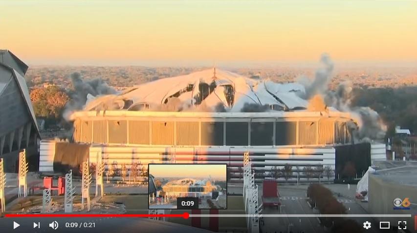 The Georgia Dome Demolished
