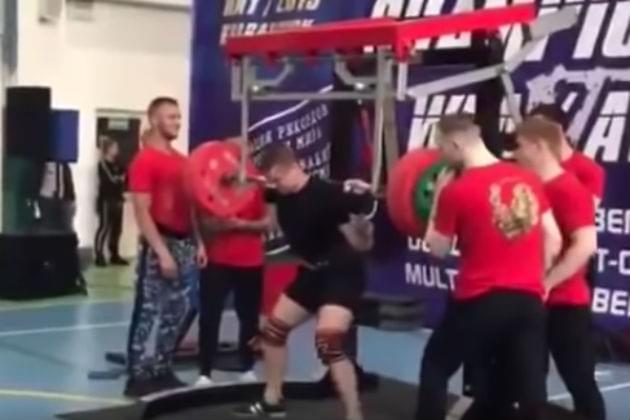 Watch This Russian Powerlifter's Leg Snap During a Competition [VIDEO]