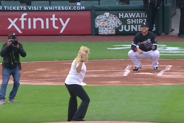 This Might Be the Worst Ceremonial First Pitch in Baseball History [VIDEO]