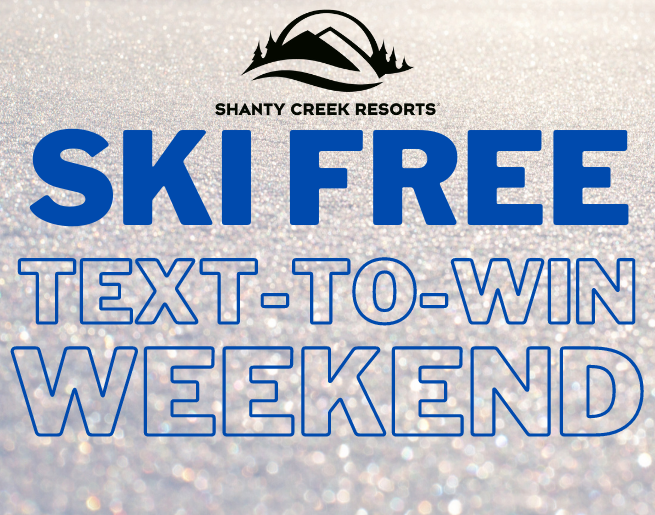 Ski Free Text-To-Win Weekend