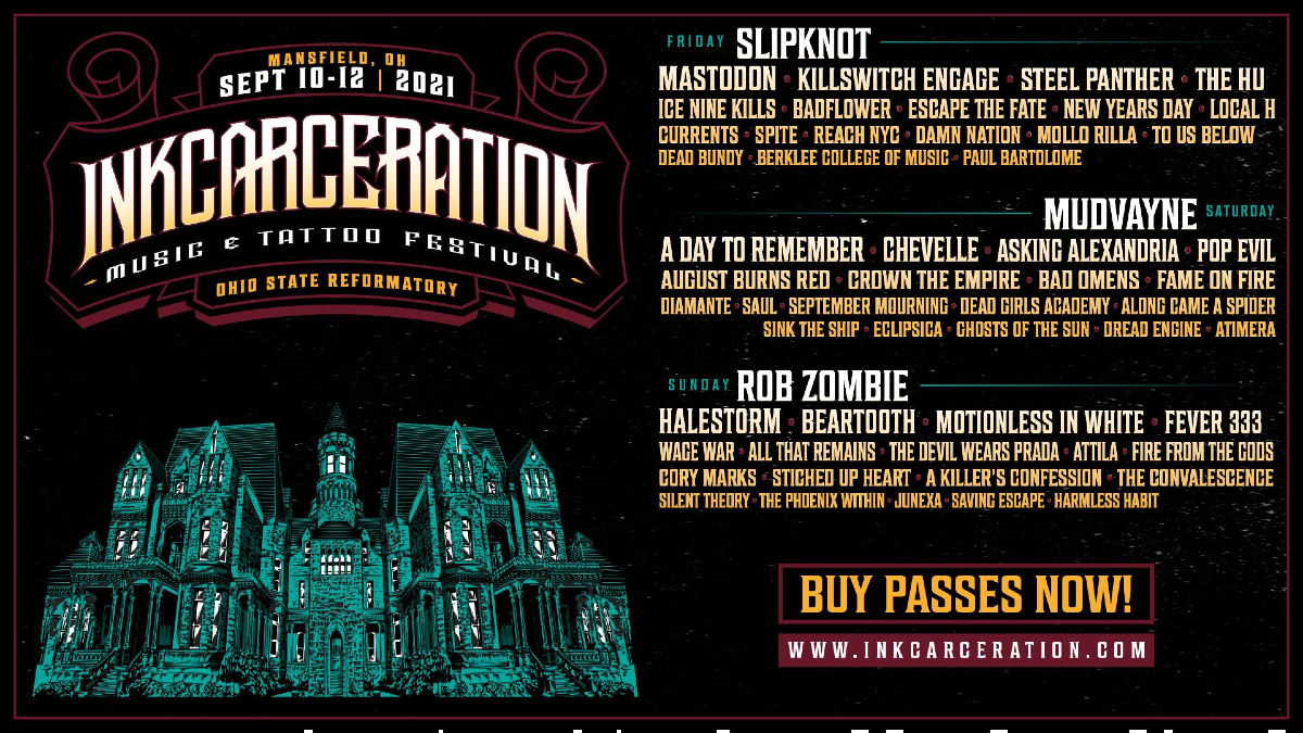Slipknot, Mudvayne, Rob Zombie Tapped to Headline Inkcarceration Festival
