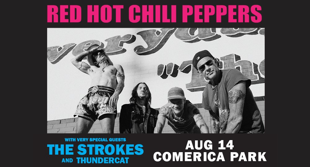 Red Hot Chili Peppers Bringing World Tour to Detroit's Comerica Park