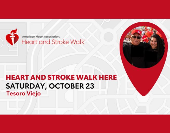 October 23: Heart and Stroke Walk