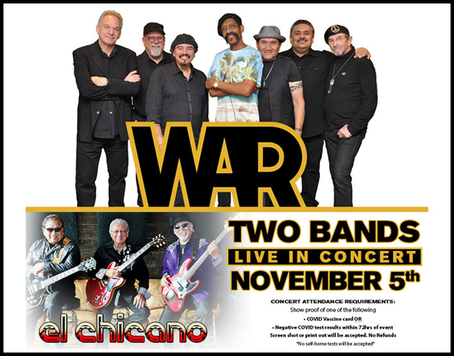 Win Tickets to see WAR & El Chicano at Eagle Mountain Casino