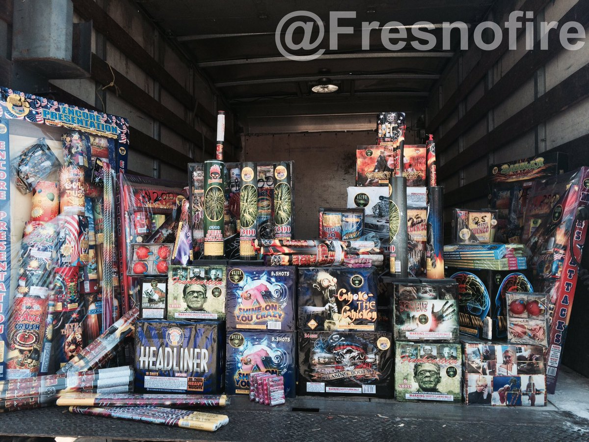 Fresno Police & Fire Team to Stop Illegal Fireworks