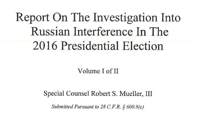 Mueller Report Released (With Redactions)