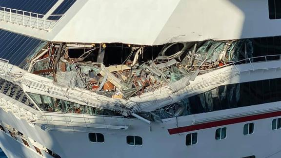 WATCH:  Two Carnival cruise ships collide in Mexico