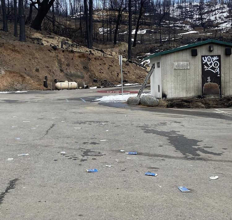 Cressman's General Store Covered in Graffiti and Garbage