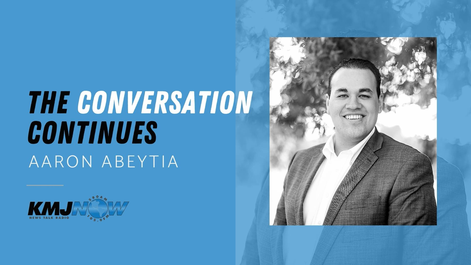 KMJ's Conversation Continues with Aaron Abeytia   Valentine's Eve 2.13.21