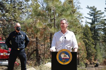 Gov. Newsom at Shaver Lake Announces $535M Early Budget Action for Wildfire Prevention