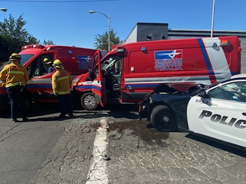 Stolen Ambulance Chase Comes to a Crashing End in Visalia