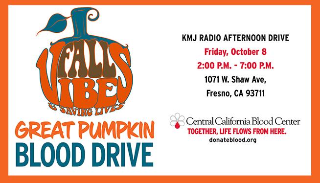 October 8: The Great Pumpkin Blood Drive