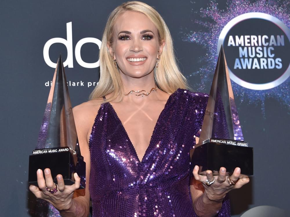 Carrie Underwood, Dan + Shay, Kane Brown & More Win American Music Awards