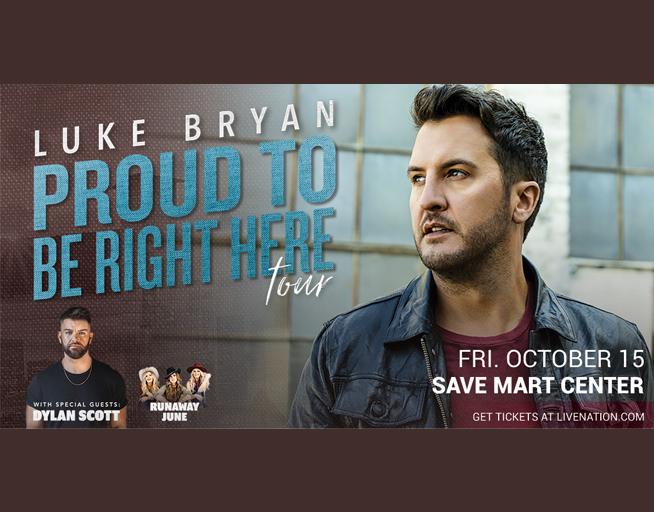 October 15:  Luke Bryan