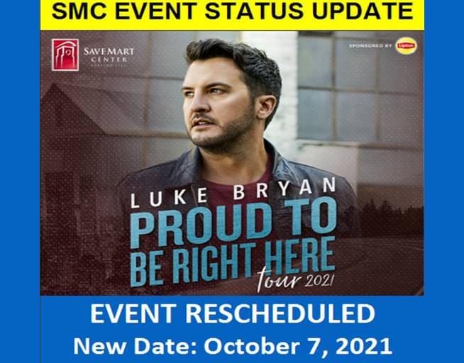 October 7:  Luke Bryan