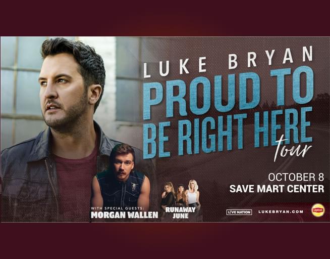 October 8:  Luke Bryan