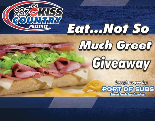 Kiss Country Eat…but not so much Greet Giveaway!