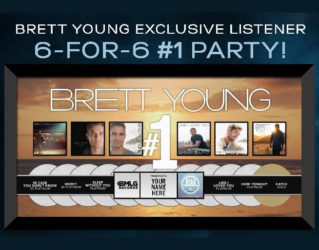 Brett Young 6 for 6 #1 Party