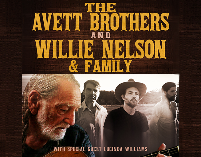 October 20:  Willie Nelson & Family and The Avett Brothers