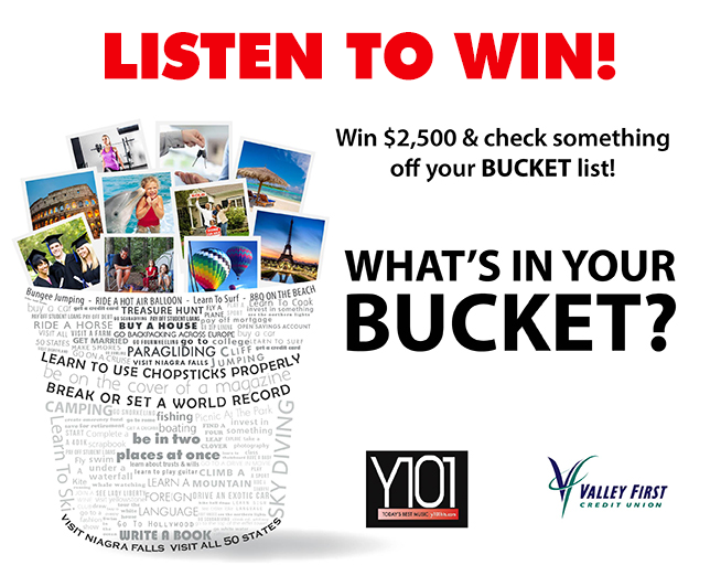 At Work Payoff: What's In Your Bucket List Contest Rules