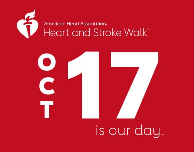 October 17:   2020 Central Valley Heart and Stroke Walk Digital Experience