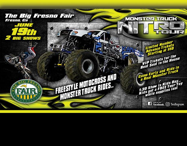 June 19: Monster Truck Nitro Tour