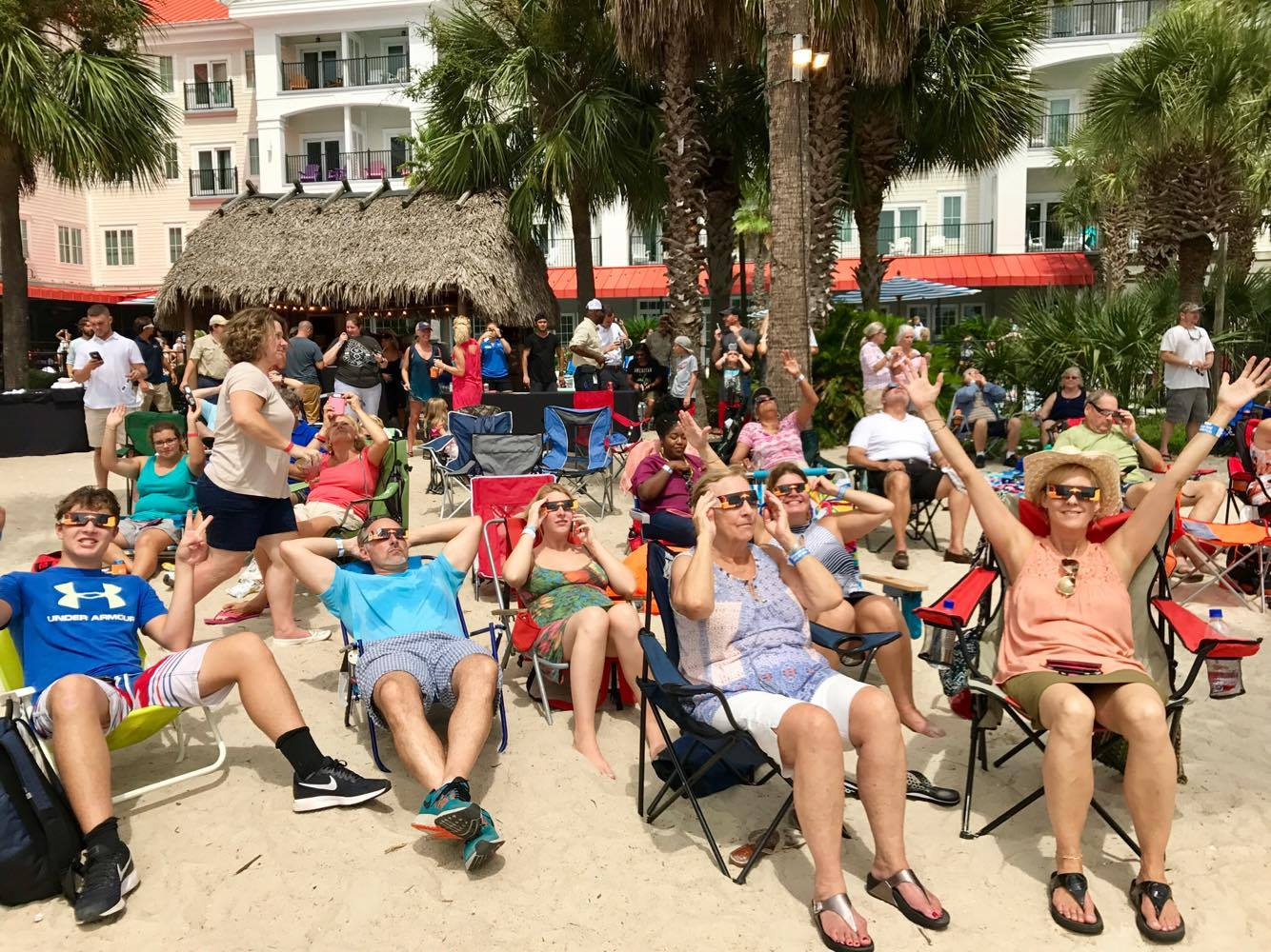 Charleston Harbor Resort & Marina Eclipse Party