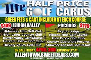 2020 Miller Lite Golf Cards: Lehigh Valley and Poconos