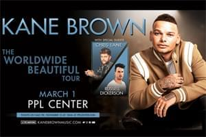 Kane Brown at PPL Center March 1st