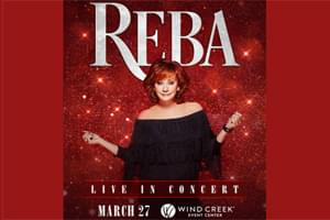 Cat Country 96 Welcomes Reba to Wind Creek Event Center