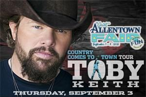 RESCHEDULED: Cat Country 96 Presents Toby Keith at the Great Allentown Fair