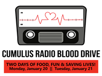 Give a Pint with Cat Country at Miller Keystone Blood Drive Jan 21st!