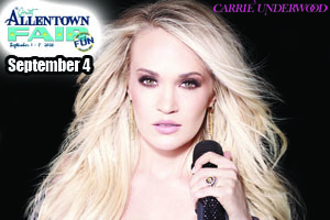 RESCHEDULED: Cat Country 96 Welcomes Carrie Underwood to the Great Allentown Fair