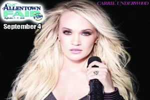 Carrie Underwood at Great Allentown fair Sept. 4th
