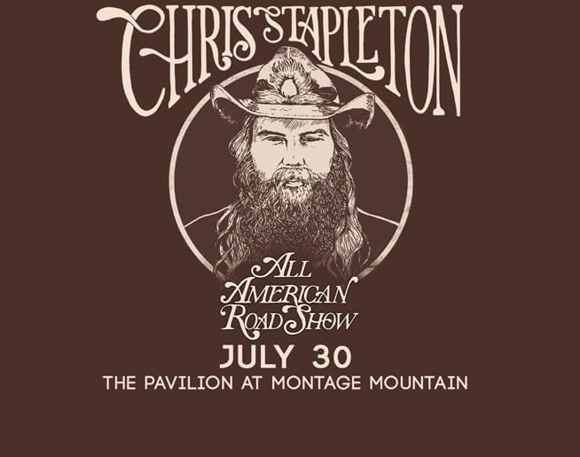 Chris Stapleton at The Pavilion at Montage July 30th