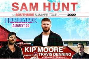Cat Country 96 & 107.1 in the Poconos Welcomes Sam Hunt to Hersheypark Stadium!
