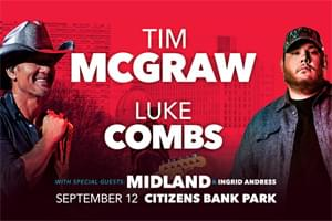 CANCELLED: Tim McGraw & Luke Combs to Citizens Bank Park