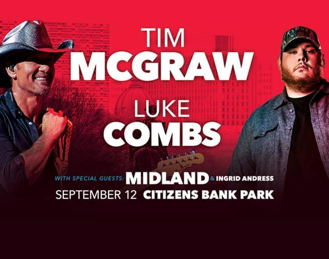 Tim McGraw and Luke Combs at Citizens Bank Park September 12th