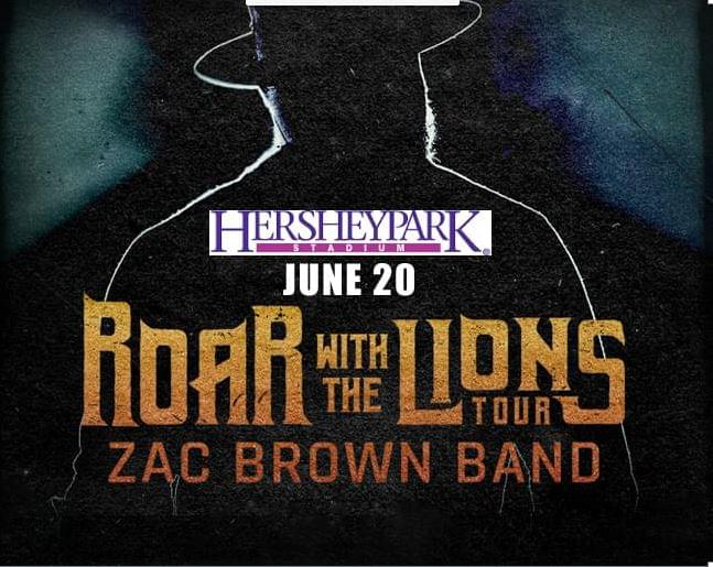 Zac Brown Band at Hershey Park Stadium June 20th