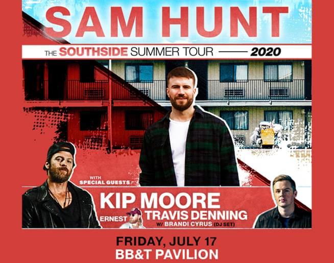 Sam Hunt at BB&T Pavilion July 17