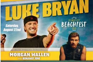 Luke Bryan at Atlantic City Beach August 22nd